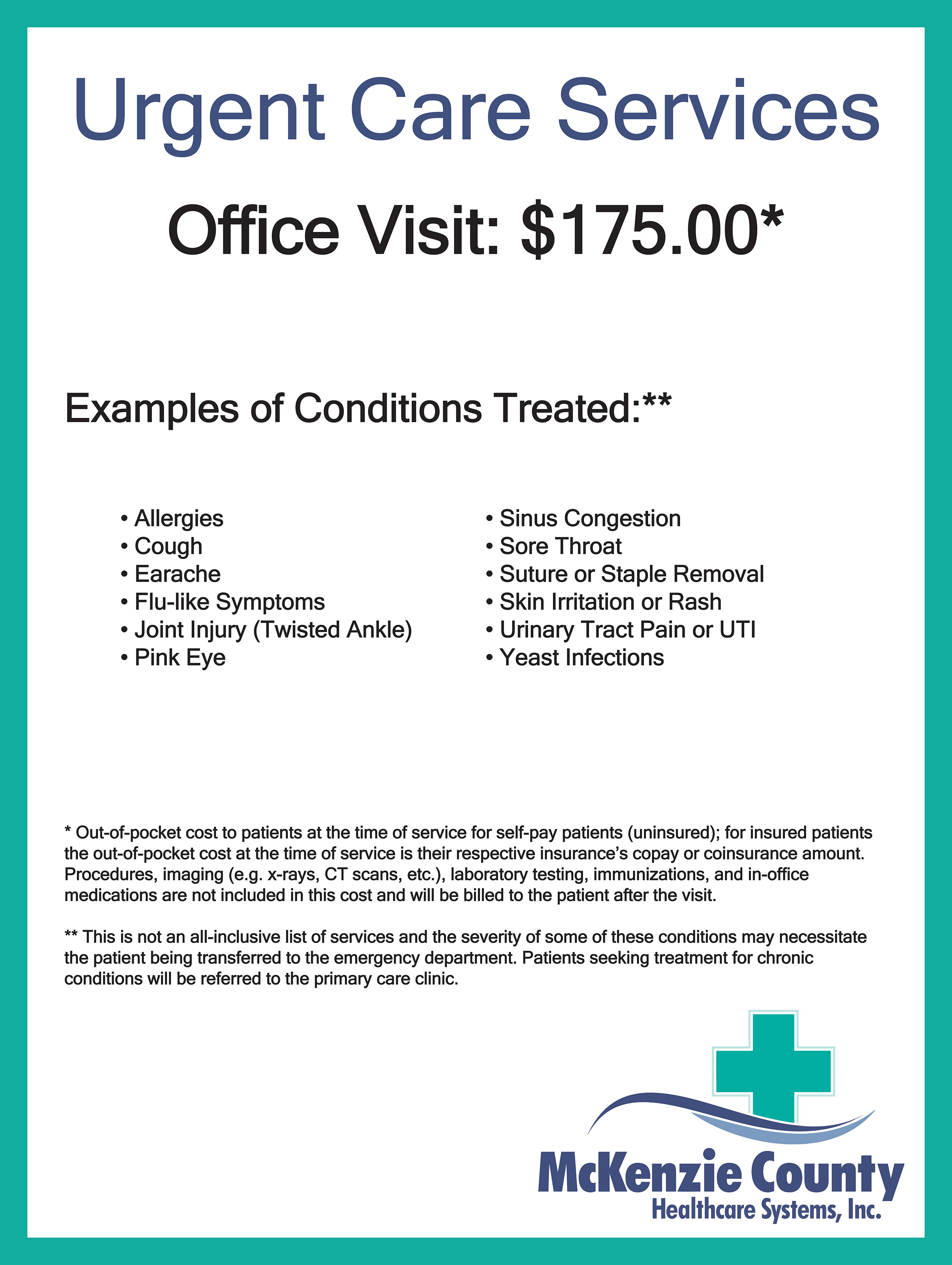 Urgent Care | McKenzie County Healthcare System